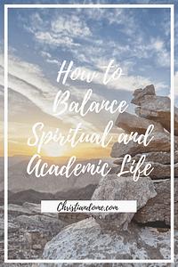 Spirituality and Academics balance